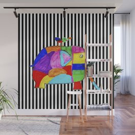 Rainbow Elephant by Elisavet | #society6 Wall Mural
