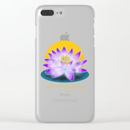 Yoga 2-Breathe in Peace  Gift T-Shirt Clear iPhone Case