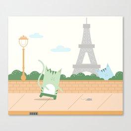 Traveling Tabbies: In Paris Canvas Print