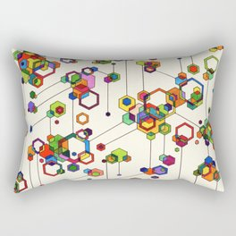 Connected Clusters Rectangular Pillow