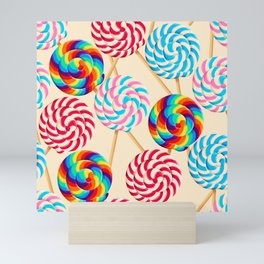 Retro Lollipops Mini Art Print