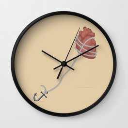 HEART ANCHOR Wall Clock