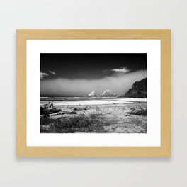 Rocks at Heceta Head Framed Art Print