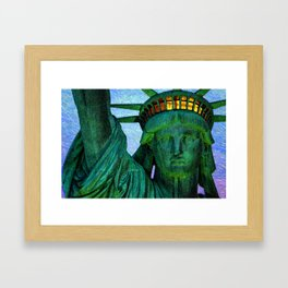 Statue of Liberty 4th of July tribute Framed Art Print