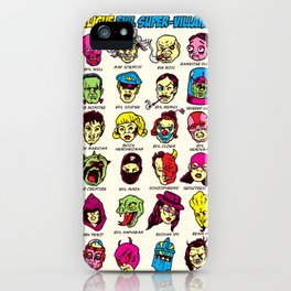 The League of Cliché Evil Super-Villains iPhone Case