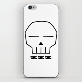 Zzz Skull iPhone Skin