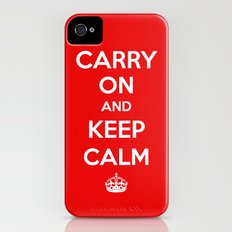 Carry On and Keep Calm iPhone (4, 4s) Slim Case
