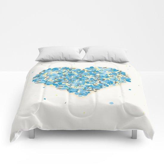 forget-me-nots heart Comforters