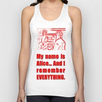 resident evil Tank Tops featuring RESIDENT EVIL - ALICE REMEMBERS by Robin Stevens
