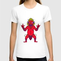 fat T-shirts featuring Fat Demon by  Grotesquer