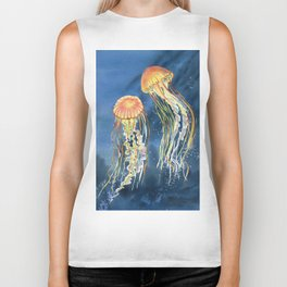 Dancing of Jellyfish Biker Tank