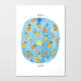 Pineapple Pura Vida Canvas Print