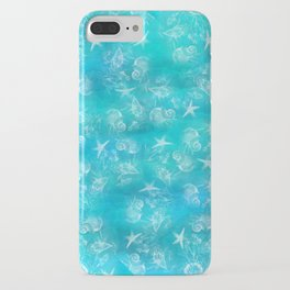 Ocean print Shells Summer Sea snails Stars Nature print Animal print iPhone Case