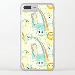 April cuteness Clear iPhone Case