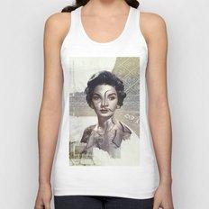 Queen of Egypt / Surrealism Unisex Tank Top