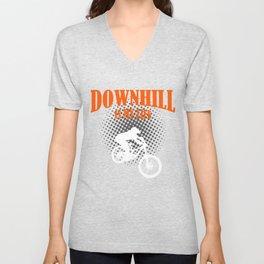 Downhill Is My Life Unisex V-Neck