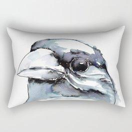 Crow Head Rectangular Pillow