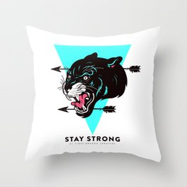 Stay Strong Panther Throw Pillow
