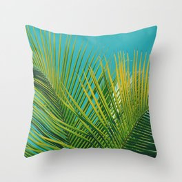 Dominican Palms Throw Pillow