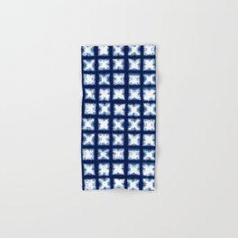 Indigo Shibori Granny Squares Hand & Bath Towel