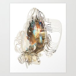 Dakini Wisdom Goddess #3 Golden Art Print