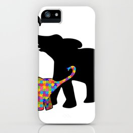 Elephant Autism Awareness Support iPhone Case