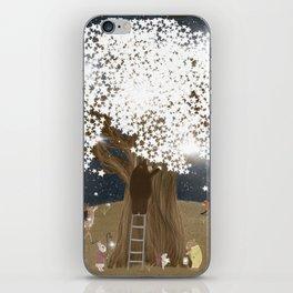 the starlight tree iPhone Skin