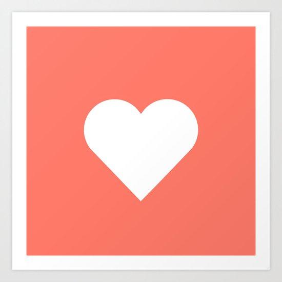 Peach Heart Art Print