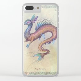 Griffin of the Sea Clear iPhone Case