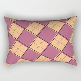 Argyle Out of Line Warm Rectangular Pillow