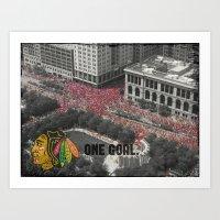 Hawks Parade Art Print