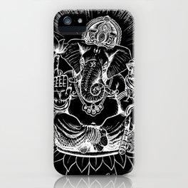 Ganesh: White iPhone Case