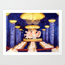 The Blue Room Art Print