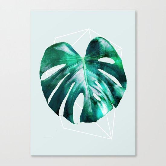 Monstera 2 Geometry Canvas Print
