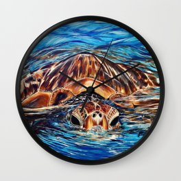 """""""Honu"""" Wall Clock"""
