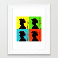 popart Framed Art Prints featuring Popart punk by Kathleen Schulze