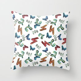 Brush stroke. Abstraction. Throw Pillow