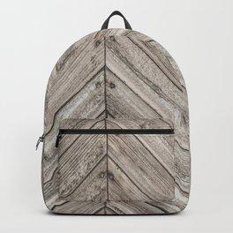 Herringbone Weathered Wood Texture Backpack