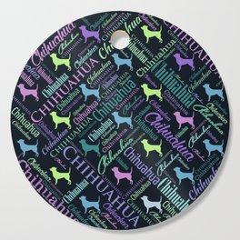 Chihuahua Word Art Cutting Board