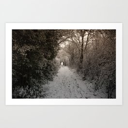A Winter Walk In Kent Art Print