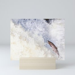 Leaping fish Mini Art Print