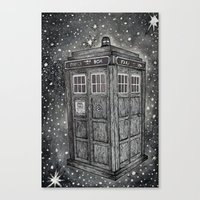 tardis Canvas Prints featuring Tardis by Elizabeth A