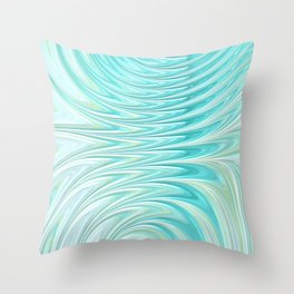 Teal Dreams Collection (6) - Fractal Art  Throw Pillow
