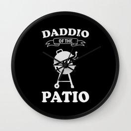 Daddio Of The Patio Wall Clock