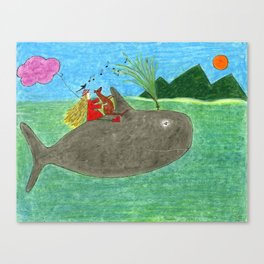 Ozzi and Lulu, The Whale Canvas Print