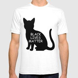Black cat lives matter T-shirt