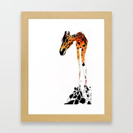 Phillip the French Giraffe Framed Art Print