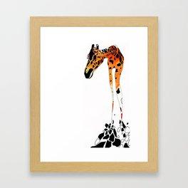 Phillip the French Giraffe Framed Art Print