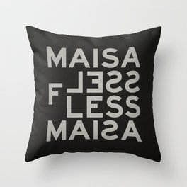 Palindrome: Ma is as selfless... Throw Pillow