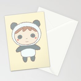 Cute Panda Kid Stationery Cards
